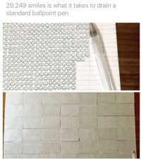 """<p>From r/pics . &ldquo;Wholesome&rdquo; ballpoint pen. via /r/wholesomememes <a href=""""http://ift.tt/2wjSpRw"""">http://ift.tt/2wjSpRw</a></p>: 29,249 smiles is what it takes to drain a  standard ballpoint pen <p>From r/pics . &ldquo;Wholesome&rdquo; ballpoint pen. via /r/wholesomememes <a href=""""http://ift.tt/2wjSpRw"""">http://ift.tt/2wjSpRw</a></p>"""