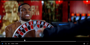 Rush Hour 2 - the Red Dragon Casino Chris Tucker gambles and wins big(while undercover) pays out durning fight scene while he defends himself with a roulette board and gets saved by a 00: 29 25 10 27 00 1 13 36 24  1:16:29 1:29:50  15 Rush Hour 2 - the Red Dragon Casino Chris Tucker gambles and wins big(while undercover) pays out durning fight scene while he defends himself with a roulette board and gets saved by a 00