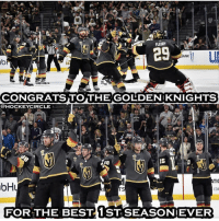 DOUBLE TAP TO CONGRATULATE THE @vegasgoldenknightsnation FOR THE BEST FIRST SEASON EVER!: 29  ANK  CONGRATSTOTHE GOLDENIKNIGHTS  @HOCKEYCIRCLE  56  15  TIC  bH  nion  COM  EOR.THE BEST ĪSTSEASONİEVER DOUBLE TAP TO CONGRATULATE THE @vegasgoldenknightsnation FOR THE BEST FIRST SEASON EVER!