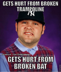 Bad Luck Joba. (Seattle Mariners Memes): GETS HURT FROM BROKEN  TRAMPOLINE  facebook.com/TheMLBMemes  GETS HURT FROM  BROKEN BAT Bad Luck Joba. (Seattle Mariners Memes)