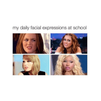 back 👄: my daily facial expressions at school back 👄