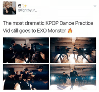 Af, Love, and Memes: 2I  alight byun  The most dramatic KPOP Dance Practice  Vid still goes to EXO Monster Extra af and i love it . . . . . Credit to owner✌
