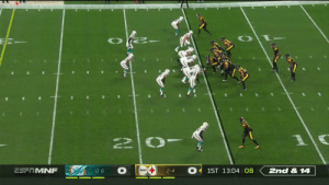 Xavien Howard picks off Rudolph! @Iamxavienhoward @MiamiDolphins #FinsUp  📺: #MIAvsPIT on ESPN 📱: NFL app // Yahoo Sports app Watch free on mobile: https://t.co/6BUh9hgbzX https://t.co/fkSsYUdzZW: 2nd &14  ESFTMNF  1ST 13:04 08  0-6  2-4 Xavien Howard picks off Rudolph! @Iamxavienhoward @MiamiDolphins #FinsUp  📺: #MIAvsPIT on ESPN 📱: NFL app // Yahoo Sports app Watch free on mobile: https://t.co/6BUh9hgbzX https://t.co/fkSsYUdzZW