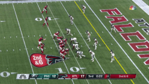 Philadelphia Eagles, Memes, and Nfl: 2nd  &6  PHI  12  17  0-1 ATL  3rd  0:22  2nd & 6  ERLEO The @Eagles intercept Ryan's pass in the end zone! #FlyEaglesFly  📺: #PHIvsATL on NBC 📱: NFL app // Yahoo Sports app Watch on mobile: https://t.co/Pa6E6lQGVa https://t.co/dBZVcPXhUi