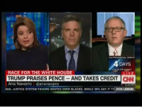 "Anna, Do It Again, and Donald Trump: 2nd PREMDENTIAL DERATE  DAYS  LIVE ON CHIN SDAY  RACE FOR THE WHITE HOUSE  TRUMP PRAISES PENCE AND TAKES CREDIT CN  Ana Navarro @ananavarro  LIVE  DAL JUSTİCE SYSTEM FAVORS WHITES OVER BLACKs, WHLE  36% SAY IT TA DON LEMON <p><a href=""http://jebbush.tumblr.com/post/156370057424/cstia-anna-for-you-to-sit-here-call-trump-a"" class=""tumblr_blog"">jebbush</a>:</p><blockquote> <p><a href=""http://cstia.tumblr.com/post/151613499443/anna-for-you-to-sit-here-call-trump-a-racist-is"" class=""tumblr_blog"">cstia</a>:</p> <blockquote> <p>""Anna for you to sit here &amp; call Trump a racist is outrageous&quot; <br/></p> <p>""well lemme do it again and lemme do it in two languages""<br/></p> <p>SHE ENDED HIM 💀💀</p> </blockquote> <p>I heavily agree with her at the end, Republicans are not all hostile and rude, and are not all represented by Donald Trump. That is why I am here, to stand for all republicans who are not represented by the hateful being Donald Trump. - J<br/></p> </blockquote> <p>The cognitive dissonance of diehard Trump supporters is fascinating.</p>"