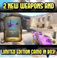 """AN-94 from BO2 and China Lake from BO1 is back🔥 And a new limited edition """"Cherry Fizz"""" camo😍 Double XP is also live for 3 weeks if you play on the Awakening maps👍- 👥tag a friend👥 ❤️5000 likes?❤️ follow🤖 ⬆️check out the link in my bio⬆️ 🔔turn on post notifications🔔 CoD SledgehammerGames BlackOps3 WorldWar2 Treyarch MWR callofduty InfiniteWarfare MWRemastered CoDDaysOfSummer Zombies CallofDutyIW InfinityWard PS4 PlayStation WWII xbox XboxOne BF1 BO3 CoD4 Gamer SHGames ModernWarfare Activision Sledgehammer CODWWII Game Gaming CoDReturns: 2NEW WEAPONS AND  @JESPERGRAN  CHERRY FiZZ  CAMO  LIMITED  21 85  58  LIMITED EDITION CAMO IN BO2! AN-94 from BO2 and China Lake from BO1 is back🔥 And a new limited edition """"Cherry Fizz"""" camo😍 Double XP is also live for 3 weeks if you play on the Awakening maps👍- 👥tag a friend👥 ❤️5000 likes?❤️ follow🤖 ⬆️check out the link in my bio⬆️ 🔔turn on post notifications🔔 CoD SledgehammerGames BlackOps3 WorldWar2 Treyarch MWR callofduty InfiniteWarfare MWRemastered CoDDaysOfSummer Zombies CallofDutyIW InfinityWard PS4 PlayStation WWII xbox XboxOne BF1 BO3 CoD4 Gamer SHGames ModernWarfare Activision Sledgehammer CODWWII Game Gaming CoDReturns"""