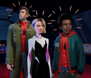 Driving, Spider, and SpiderMan: 2oo-ugly:  fyeahmarvel: New Spider Man Into the Spider-verse still featuring Peter, Gwen, and Miles. but if you're spiderman and i'm spiderman…. who's driving the car??