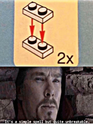 Reddit, Quite, and Simple: 2x  It's a simple spell but quite unbreakable. That thing..it scares me the most