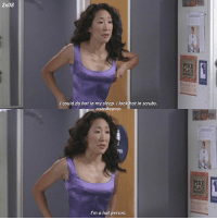 I wish I had this much self confidence greysanatomy cristinayang: 2x08  PIKE  PLACE  could do hot in my sleep, I look hot in scrubs.  crazedbygreys  PIKE  PLACE  MARKET  I'm a hot person. I wish I had this much self confidence greysanatomy cristinayang