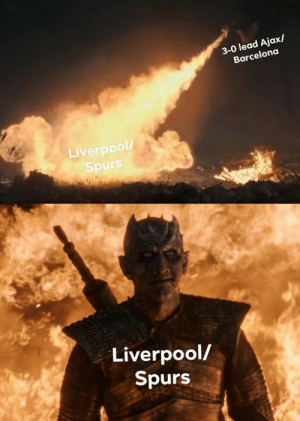 The most dangerous lead!: 3-0 lead Ajax/  Barcelona  Liverpool  Spurs  Liverpool/  Spurs The most dangerous lead!