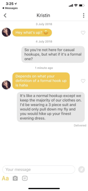 what does we hook up mean