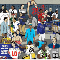 Nfl, Sports, and Work: ,3  28  NEED WORK  2  HAIL  MAR  nu  NFL  0  1 00%  GAME  WORN  GEAR  BROW  10  に PR Football's back.
