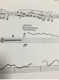 """durnesque-esque: clarinetnerd17:  Do I…. Do I use my instrument for this?  I mean, it'd be 10,000x funnier if the clarinet player assigned just stood up and started screaming. : 3  3  3  3  clarinet  improvisatory  """"screaming  2 durnesque-esque: clarinetnerd17:  Do I…. Do I use my instrument for this?  I mean, it'd be 10,000x funnier if the clarinet player assigned just stood up and started screaming."""