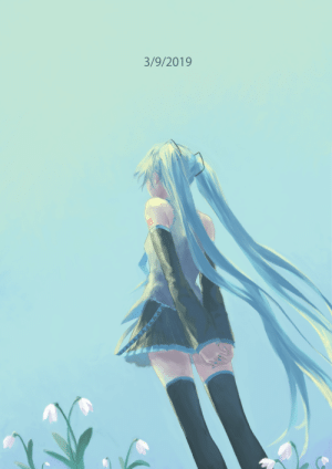 Target, Tumblr, and Blog: 3/9/2019 gardneria:  still cold springFor Miku day 2019