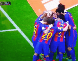 Barcelona, Soccer, and Unicef: 3 BAR  SUAREZ  ERTO  unicef Throwback to when an empty plastic bottle nearly killed the whole Barcelona team https://t.co/fazSFIqBIm
