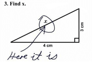 Hypotenuse anyone?: 3. Find x.  4 cm  Here it is Hypotenuse anyone?