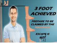 "<p>[<a href=""https://www.reddit.com/r/surrealmemes/comments/93bc8v/3_foot/?utm_source=ifttt"">Src</a>]</p>: 3 FOOT  ACHIEVED  PREPARE TO BE  CLAIMED BY THE  FOOTFO  ooS  ESCAPE IS <p>[<a href=""https://www.reddit.com/r/surrealmemes/comments/93bc8v/3_foot/?utm_source=ifttt"">Src</a>]</p>"