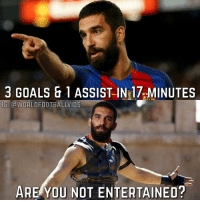 Turan tonight 👌: 3 GOALS ASSIST IN MAMINUTES  IG. LVIDS  ARE YOU NOT ENTERTAINED? Turan tonight 👌