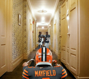 """Come play with us, Baker."" Twin Ghosts spotted welcoming Baker to Gillette.: 3  MAYFIELD ""Come play with us, Baker."" Twin Ghosts spotted welcoming Baker to Gillette."