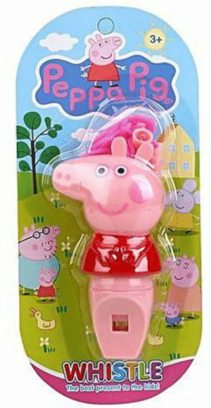 Peppa Pig Trio Music Set Pack of 3 Musical Whistle Tambourine /& Flute Peppapig