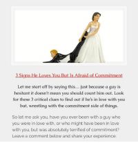 when a guy is scared of commitment the signs