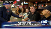 """A Michigan man who said he was ridiculed by friends and family for supporting President DonaldTrump had an impassioned message for Republicans. """"My God! Stand up and support our president! This is our party. You guys are silent. ... The Republican supporters voted for Donald Trump. You're obligated to support Donald Trump."""": 3 SON'S DINER  WARREN, MI  8:47 AM ET  ITAL  MIDWEST STOP  MI DINERS WEIGH IN ON POTUS PERFORMANCE Afriends A Michigan man who said he was ridiculed by friends and family for supporting President DonaldTrump had an impassioned message for Republicans. """"My God! Stand up and support our president! This is our party. You guys are silent. ... The Republican supporters voted for Donald Trump. You're obligated to support Donald Trump."""""""