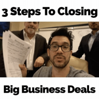Memes, 🤖, and Big Business: 3 Steps To Closing  Big Business Deals Check out my YouTube.com-tailopez for the full version of this three step explanation.