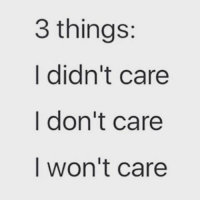 Ughhhh I just wanna be in bedddddd 😩😴💤😴💤(@goodgirlwithbadthoughts 💅🏼) TheBasicBitchLife: 3 things:  I didn't care  I don't care  I won't care Ughhhh I just wanna be in bedddddd 😩😴💤😴💤(@goodgirlwithbadthoughts 💅🏼) TheBasicBitchLife