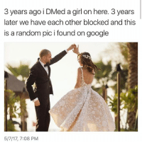 I'm sorry, but I found this hilarious!!! Please stop cyber dating and trying to find God's will. 9-10 it's someone only showing you the good parts of their life and sometimes it's catfish 😂😂💯: 3 years ago i DMed a girl on here. 3 years  later we have each other blocked and this  is a random pic i found on google  5/7/17, 7:08 PM I'm sorry, but I found this hilarious!!! Please stop cyber dating and trying to find God's will. 9-10 it's someone only showing you the good parts of their life and sometimes it's catfish 😂😂💯