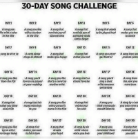30 Day Song Challenge Day2 A Song You Tik In The Tile Day1 Day4