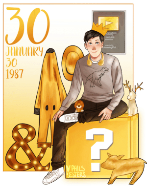 philslesters:  a person's golden birthday occurs when they turn the same age as their date of birthhappy 30th birthday golden boy @amazingphil!! 3: 30  gratulations  on reaching  1,000,000  subscribers  presented to  AmazingPhil  30  1987  PHILS philslesters:  a person's golden birthday occurs when they turn the same age as their date of birthhappy 30th birthday golden boy @amazingphil!! 3