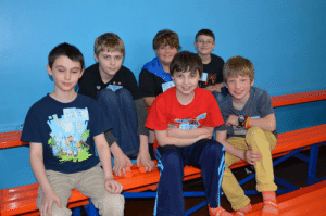 Party, Boys, and Red: 30 PM  6  Sky Zone  6:30 PMA  7:30 PM  mper  Party 01  Apr  RCCT  20N  Z0 Me and the boys before we split up (I'm in the front middle in the red)