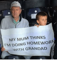 Grandad of the year award goes to https://t.co/bQWoAkWZTH: 30  SafeS  MY MUM THINKS  I'M DOING HOMEWORK  WITH GRANDAD Grandad of the year award goes to https://t.co/bQWoAkWZTH