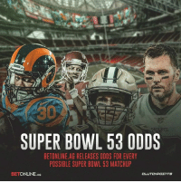 BetOnline.ag already released odds for every possible Super Bowl 53 matchup: 30  SUPER BOWL 53 0DDS  BETONLINE.AG RELEASES ODDS FOR EVERY  PBSSIBLE SUPER BOWL 53 MATCHU  BETONLINE.AG BetOnline.ag already released odds for every possible Super Bowl 53 matchup
