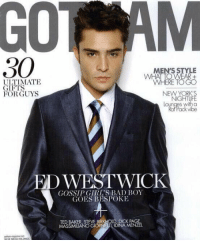 Bad Boys, Memes, and Gossip Girl: 30  ULTIMATE  GIFTS  FOR GUYS  NCHE MERAHOLONGS  MEN'S STYLE  NEW YORK S  WESTWICK  GOSSIP GIRL'S BAD BOY  GOES BESPOKE  TED BAKER STEVE BIRKHOLD DICK PAGE  MASSIMILANOGIORNETTI IDINA MENZEL and on the 7th day God made Ed Westwick