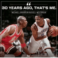 Credit: Bleacher Report.  From one 🐐 to another.   ThunderUp!!!: 30 YEARS AGO, THAT'S ME.  MICHAEL JORDAN ON RUSSELL WESTBROOK  br  H, COMPLEX Credit: Bleacher Report.  From one 🐐 to another.   ThunderUp!!!