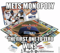 Mets are definitely winning this game. (New York Mets Memes): ONOPOLY  METS  IM ELS  THE FIRST ONE TOZERO  WINS  tom/The MOLEMemo  facebook Mets are definitely winning this game. (New York Mets Memes)