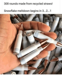 Memes, 🤖, and Made: 308 rounds made from recycled straws!  Snowflake meltdown begins in 3...2...1 🤣