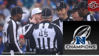 The refs advance to the #SuperBowl! https://t.co/CClkOwgJNK: 31  LJ  L15  RJ  CHAMPIONS  facebook.com/NO SportsCenter The refs advance to the #SuperBowl! https://t.co/CClkOwgJNK