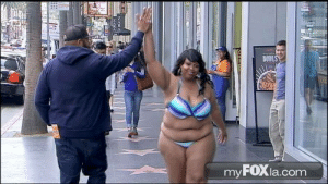 Google, News, and Pressure: 312  BOWL  my FOXla.com crabs-in-general:  tashabilities: l20music:  fatshitcray:  datzhott:  Plus-Sized Woman Rocks Bikini on Hollywood Boulevard to Promote Body Acceptance Los Angeles is known for many things: great weather, a laidback lifestyle, and Hollywood's biggest stars. But for many who live in La La Land, the pressure to conform to a certain beauty standard can leave them feeling downright depressed.  Why didn't this have any notes?  It doesnt have any notes because its a black woman doing it. Had it been a white woman this wouldve been national news.  I bolded   https://www.google.com/amp/clutchmagonline.com/2014/04/tired-obsession-perfection-plus-size-woman-dons-bikini-hollywood-boulevard/amp/Here's another link to the article because the one posted just shows up and error message