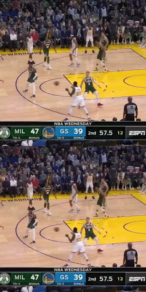 This shot attempt by Draymond Green!   He's averaging 3 PTS on 15% shooting over his last 3 games  https://t.co/xCdp3F6WIo: 33  GOW ARR  11  NBA WEDNESDAY  MIL 47  GS 39 2nd 57.5 12 ESPT  TO: 5  BONUS  TO: 5  BONUS   33  GOW ARR  11  NBA WEDNESDAY  MIL 47  GS 39 2nd 57.5 12 ESPI  TO: 5  TO: 5  BONUS  BONUS This shot attempt by Draymond Green!   He's averaging 3 PTS on 15% shooting over his last 3 games  https://t.co/xCdp3F6WIo