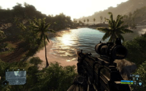 Game, Games, and Old: 35 11 This game is 11 years old and still looks better than some of todays games. Game is Crysis.