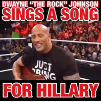 "😂😂😂 @joedonnellyfit: 35  DWAYNETHE ROCK'"" JOHNSON  SINGS A SONG  JUST  FOR HILLARY 😂😂😂 @joedonnellyfit"