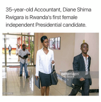 Presidential Candidate: 35-year-old Accountant, Diane Shima  Rwigara is Rwanda's first female  independent Presidential candidate  gettyimages