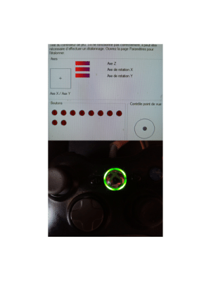 """360 controller problem , my computer detects it and it works just fine in the controller configuration panel but not detected in games , and it's full circle instead of just """"player 1"""" can someone please help: 360 controller problem , my computer detects it and it works just fine in the controller configuration panel but not detected in games , and it's full circle instead of just """"player 1"""" can someone please help"""