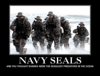 navy seal: NAVY SEALS  AND YOU THOUGHT SHARKS WERE THE DEADLIEST PREDATORS IN THE OCEAN