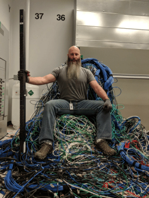 Internet, Slayer, and Wizard: 37 36 Wizard of the internet, King of the data centers, Slayer of cables!
