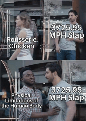 Chicken, Engineering, and Physical: 3725.9  MPHSlap  Rotisserie.  Chicken  3725.95  Physical  Limitations of  the Human Body Join our FB group subtle engineering traits