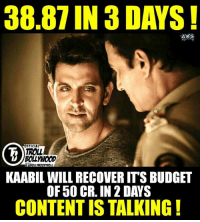 But but Calculator 😂😂😂😂 !  #Jericholic: 38.87 IN 3 DAYS!  AK  FFICIAL  TROLL  BOLLWOOD  KAABIL WILL RECOVERITS BUDGET  CONTENTIS TALKING But but Calculator 😂😂😂😂 !  #Jericholic