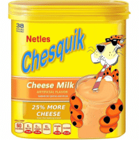 Memes, Queso, and Fat: 38  SERVINGS  RACIONES  Netles  Cheese Milk  ARTIFICIAL FLAVOR  SABOR DE QUESO ARTIFCIA  25% MORE  CHEESE  than the leading brand  PER 2 TBSP  0g  SAT FAT  15VITAMIN  SUGARSCALCIM  CALORIES  SODIUM  0% DV  040 DV  10% DV  10% DV
